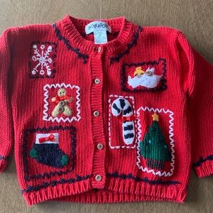 🏇🏼 2/$20 Ugly Christmas Sweater Size 4T